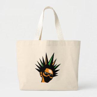 Spiky Hair Large Tote Bag
