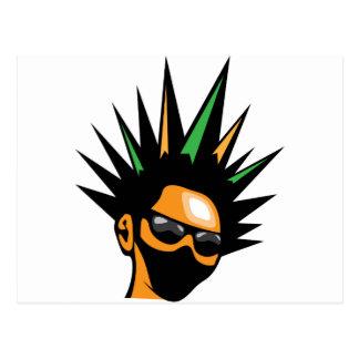 Spiky Hair Postcard