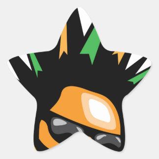 Spiky Hair Star Sticker