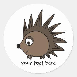 Spiky Hedgehog Classic Round Sticker