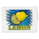 Spiky Lemon Greeting Card