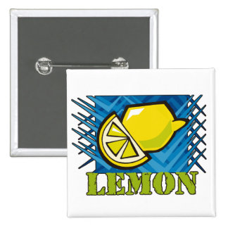 Spiky Lemon Pinback Button