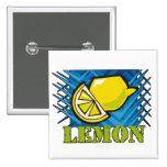 Spiky Lemon Pinback Buttons