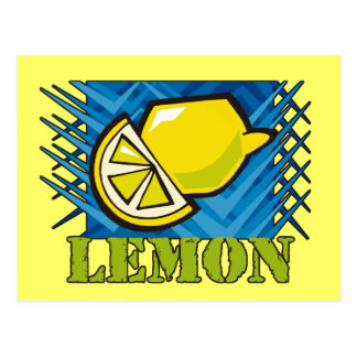 Spiky Lemon Postcard