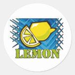 Spiky Lemon Stickers