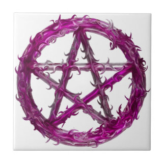 Spiky pentagram tile