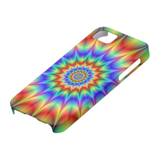Spiky Psychedelic Rings iPhone 5 Barely There Case