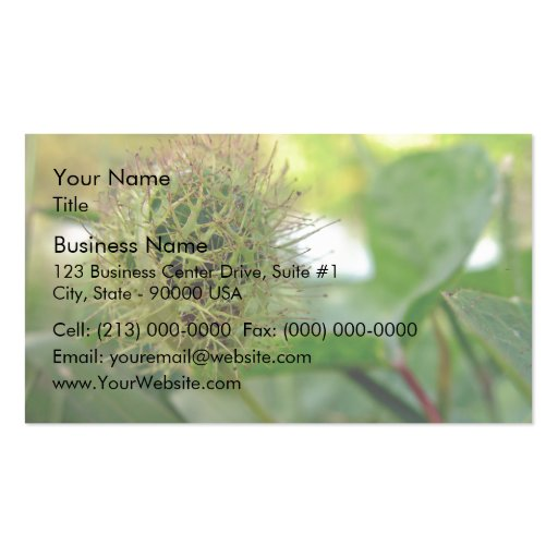 Spiky  Round green prisoner Double-Sided Standard Business Cards (Pack Of 100)