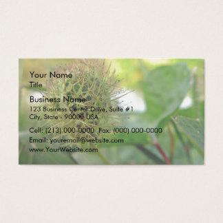 Spiky  Round green prisoner Business Card