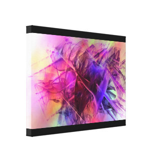 Spiky Shiny Glass Shards Abstract Design Canvas Print