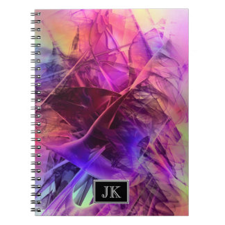 Spiky Shiny Glass Shards Abstract Design Notebook