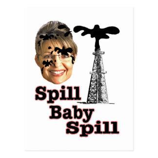 spill baby postcard
