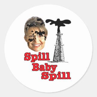 spill baby spill... classic round sticker