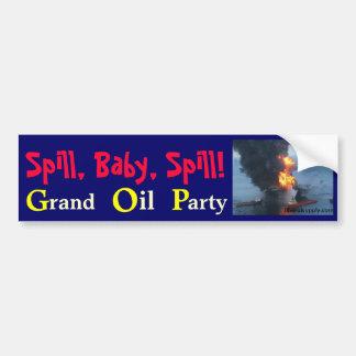 Spill Baby Spill GOP Bumper Stickers