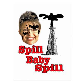 spill baby spill... postcard