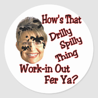 spill spill spill classic round sticker