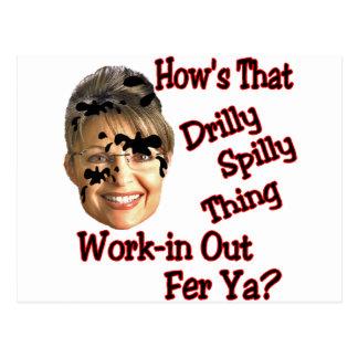 spill spill spill postcard