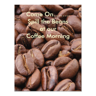 Spill the Beans 4.25x5.5 Paper Invitation Card