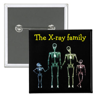 Spilla xray family pinback buttons