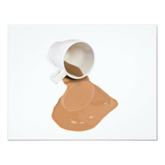 Spilled chocolate milk card