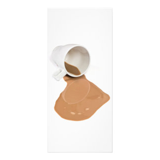 Spilled chocolate milk rack card