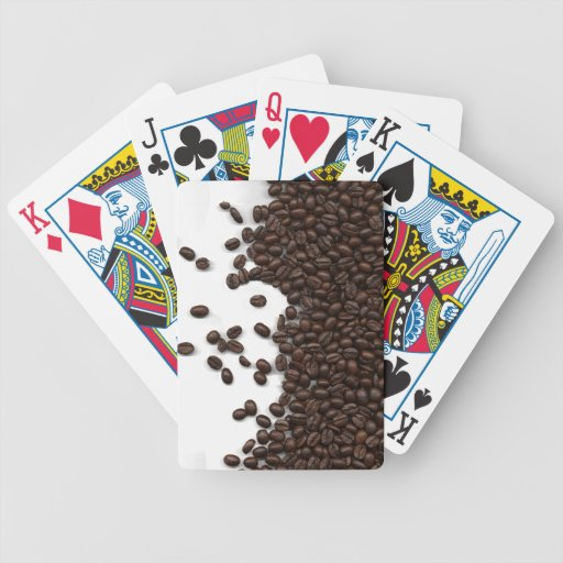 Spilled Coffee Beans Bicycle Card Deck