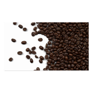 Spilled Coffee Beans Business Card
