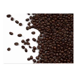 Spilled Coffee Beans Large Business Cards (Pack Of 100)