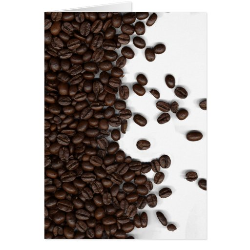 Spilled Coffee Beans Card