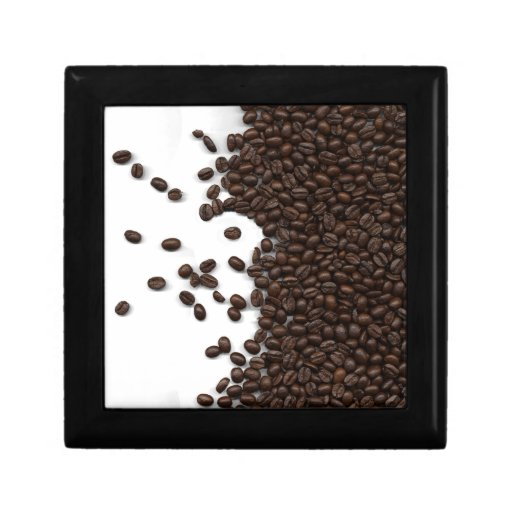 Spilled Coffee Beans Jewelry Boxes