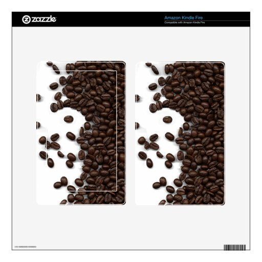 Spilled Coffee Beans Kindle Fire Decals