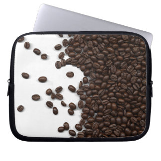 Spilled Coffee Beans Laptop Computer Sleeve