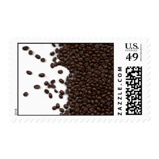 Spilled Coffee Beans Postage Stamp