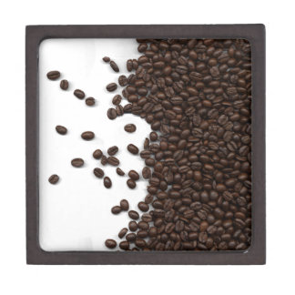 Spilled Coffee Beans Premium Jewelry Boxes