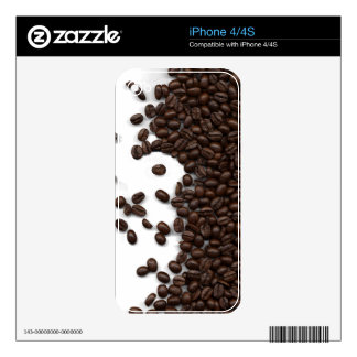 Spilled Coffee Beans Skin For The iPhone 4