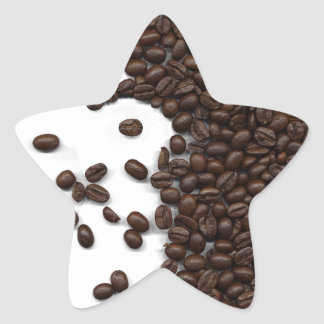 Spilled Coffee Beans Star Sticker