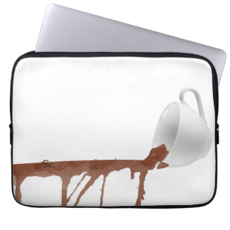 Spilled coffee laptop sleeve