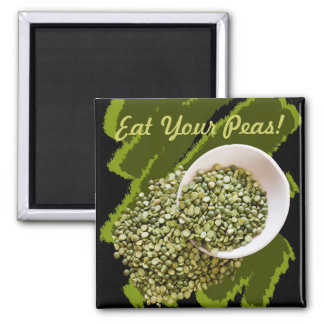 Spilled, Dried Green Pea Photograph Magnet