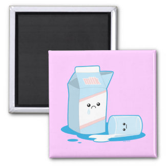 Spilled Milk 2 Inch Square Magnet