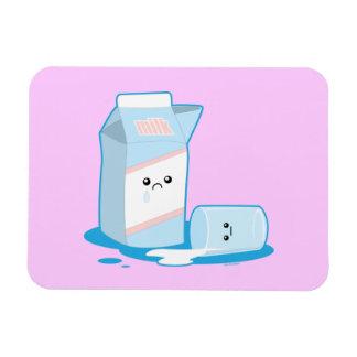 Spilled Milk Rectangular Photo Magnet