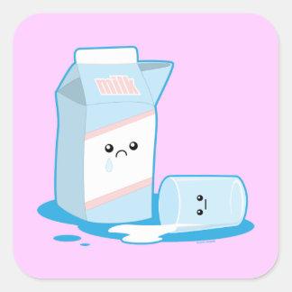 Spilled Milk Square Sticker