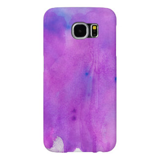 Spilled Purple Watercolor With Blue Highlights Samsung Galaxy S6 Case