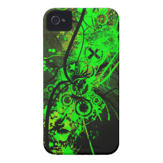spilled radioactive green color abstract art Case-Mate iPhone 4 case