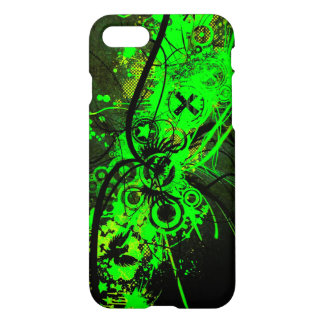 spilled radioactive green color abstract art iPhone 8/7 case