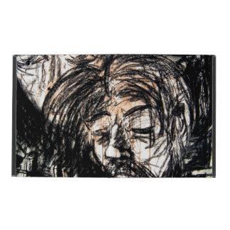 Spilled Red Wine Charcoal Drawing iPad Cover