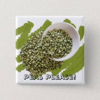 Spilled Split Green Peas Photograph Pinback Button