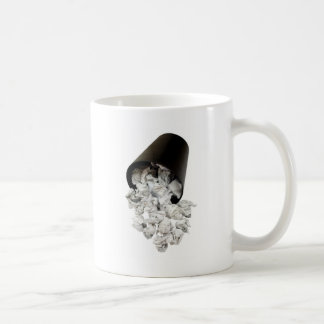 Spilled wastepaper basket classic white coffee mug