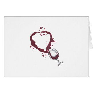 SPILLED WINE CARD