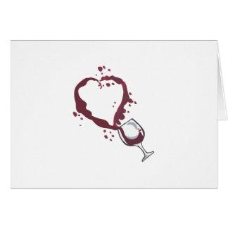 SPILLED WINE CARD