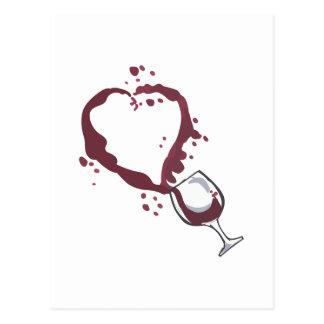 SPILLED WINE POSTCARD